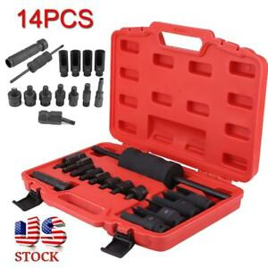 14pcs Diesel Injection Injectors Puller Removal Car Garage Tool Set Kits Us