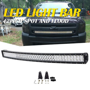40 Inch Curved Led Light Bar Flood Spot Combo Off Road Truck Ford Suv Fog Atv 42