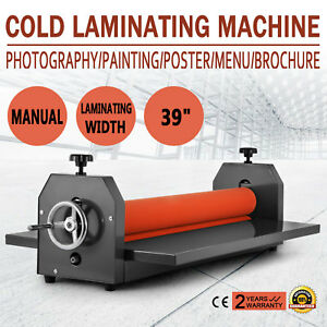 All Metal Frame 39 1000mm Manual Cold Roll Laminator Mount Factory Direct