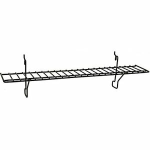 Black Wire Shelf 23 W X 4 D Inches Fits Slatwall Grid And Pegboard Lot Of 4