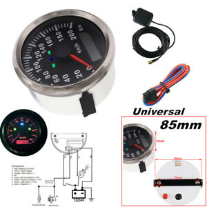 85mm 200km h Motorcycle Gps Speedometer Odometer Kit For Boat Car Universal Ip67