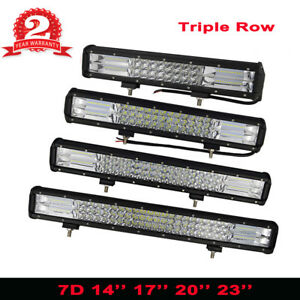 288w 324w Combo Led Work Light Bar Jeep Truck Boat 3 Row 17 20 14 23