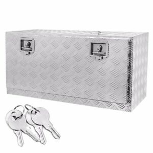 Truck Tool Box 36 Inches Aluminum Pickup Flat Bed With Build In Lock Outdoor