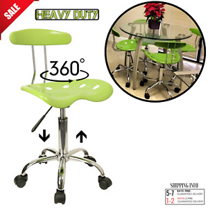Swivel Task Chair Tractor Seat Pneumatic Wheels Desk Office Kitchen Cleanable