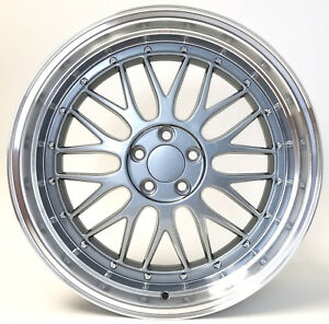 18 Lm Style Mesh Wheels Rims 5x100 18x9 Et 40 For Volkswagen