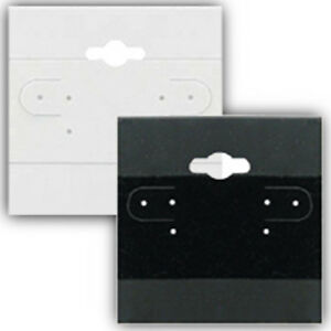 Hanging Earring Card In Plastic Black Finish 2 W X 2 H Inch 100 Per Package