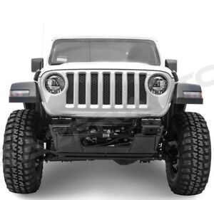 Rock Crawler Front Bumper Double Steel Hd Skid Plate For 18 19 Jeep Jl Wrangler
