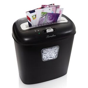 Paper Shredder New Cross Cut Non Stop Jam Free Credit Cards Paper Clips Staples