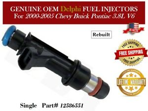 1 Fuel Injector Oem Delphi For 2000 2005 Chevy Buick Pontiac 3 8l V6 12586551