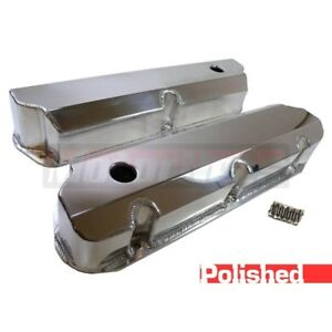 289 302 351w Sbf Ford Fabricated Polish Billet Aluminum Valve Cover V8 5 0 Tall
