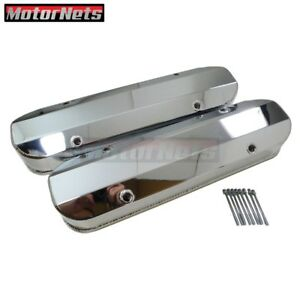 Pontiac Chrome Fabricate Aluminum Tall Valve Covers 1 4 Billet Rail 326 400 455