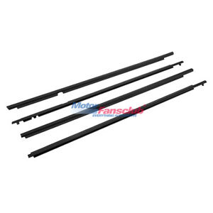 4pcs Auto Door Belt Molding Weatherstrip For Toyota Corolla 2009 2010 2011 2012