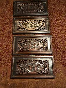 Chinese Carved Wood Wall Hanging