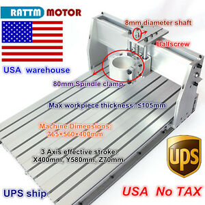 us Stock Desktop 6040 Cnc Router Milling Engraving Machine Frame