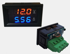 Dc100v 20a Led Digital Panel Voltage Meter Tester Gauge Voltmeter Ammeter