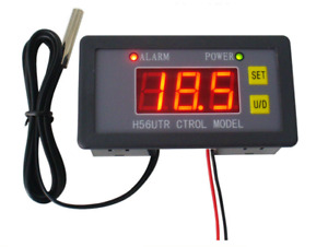 New Dc Digital Lcd Temperature Controller Heating Cooling Thermostat With Probe