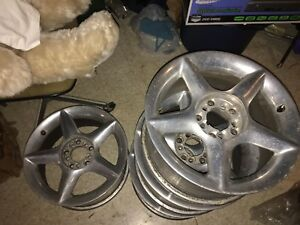 16 Haas Chrome 5 Point Star Rims Complete Set With Lug Nuts No Caps Scratched