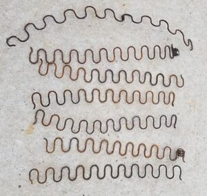 Box Springs Rusty Metal Spiral Pieces Antique Lot 7