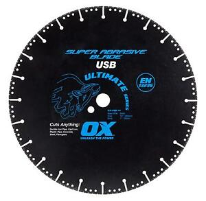 Ox Tools 14 Metal Cutting Super Abrasive Diamond Blade 1 20mm Bore