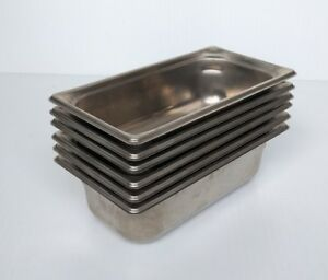 Vollrath 90342 Super Pan 3 1 3 Size 4 Stainless Steel Steam Pans Set Of 6