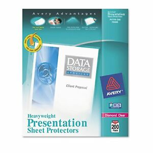 Avery Topload Poly Sheet Protectors Heavy Letter Diamond Clear 200ct Best Price