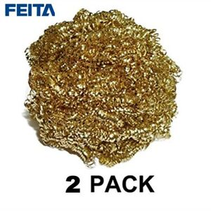 Feita 2pcs Soldering Iron Tip Cleaner Cleaning Copper Wire Ball Clean Dish Bo