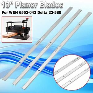 3 Pcs 13 Hss Planer Blades Knives For Wen 6552 043 Delta 22 580 22 590 Tp30