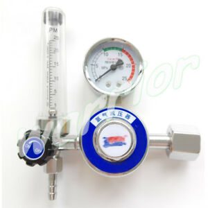 Tig Welding Welder Argon Regulator Ar Reduced Pressure Gas Flowmeter Gauge