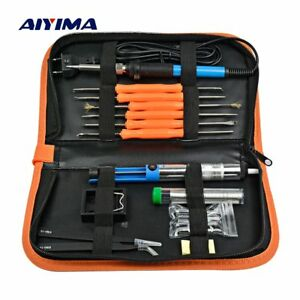 Aiyima Ac 220v Soldering Iron Kit Repair Tools Adjustable Temperature Welding
