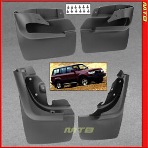 Front Rear Left Right Mudflaps For 1991 1997 Toyota Land Cruiser Splash Guards