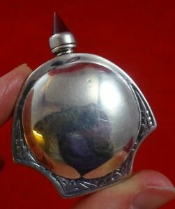 Silver Scent Bottle With Glass Finial 4519
