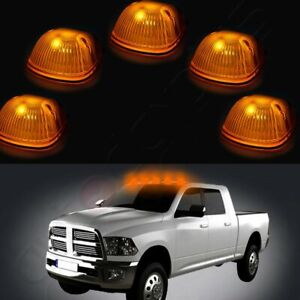 5cab Roof Clearance Marker Light Amber Cover lens free Led Light For 94 98 Dodge