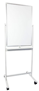 Vivo Mobile Dry Erase Board 24 X 36 Double Sided Magnetic Whiteboard Aluminum