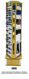 Sunglasses Accessories Revolving Floor Display Rack Storage Holds 126 Pieces