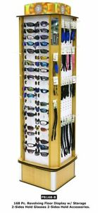 Sunglasses Accessories Revolving Floor Display Rack Storage Holds 168 Pieces