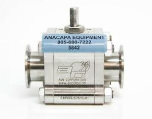 A n Corp D4150 qf40 High Vacuum Stainless Steel Manual Ball Valve 3000032 5842