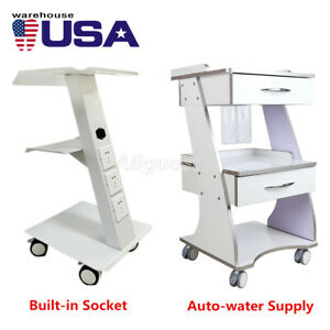 Dental Metal Built in Socket Tool Cart Mobile Instrument Cart Dental Trolley