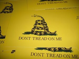 Dont Tread On Me Sticker Gadsden Flag Decal 4 Vinyl Usa Military Set Of 2