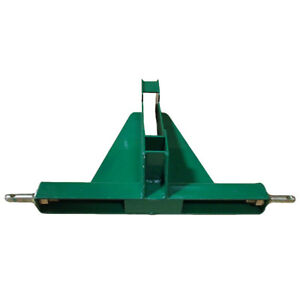 Green 3 Point 2 Receiver Hd Trailer Square Ball Hitch Category 1 Tractors Jd Mf