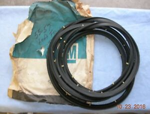 55 56 57 Chevy Nos Gm Left Hand Weather Strip 2 Door Sedan 4647173 Nip