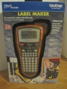 New Brother P touch Edge Pt e105 Electrical Cable And Wiring Label Maker New