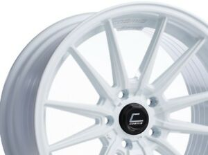 Cosmis Racing R1 18x9 5 35 18x10 5 30 5x114 3 White Staggered set Of 4