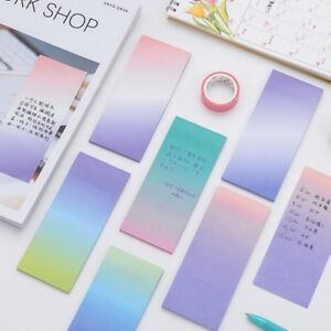 Rainbow Colorful Sticky Notes Cartoon Writing Student Study Paper Memo Pad New