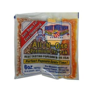 6 Oz All in one Popcorn Pack Of 24 Real Theater Taste Easy To Open Pour And Pop