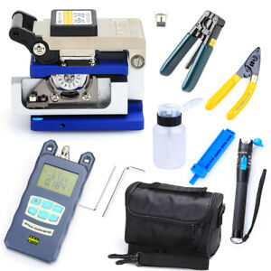 Fiber Optic Ftth 10in1tool Kit W Fc 6s Fiber Cleaver optical Power Meter Finder
