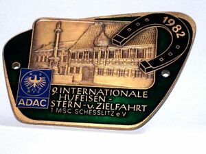 German Adac Car Badge 1982 Schesslitz