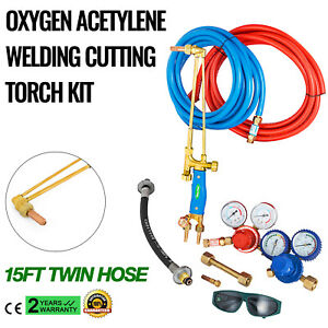 Gas Welding And Cutting Kit Victor Type Propane Oxygen Torch Set Regulator