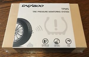 Cacagoo Wireless Tpms Tire Pressure Monitoring System With 4pcs External Sensors