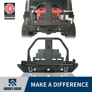 Rear Bumper Spare Tire Carrier W Double Oil Drums For 07 18 Jeep Wrangler Jk