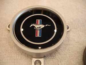 1969 Mustang Mach 1 Grande 3 Spoke Steering Wheel Emblem Rimblow Rim Blow New